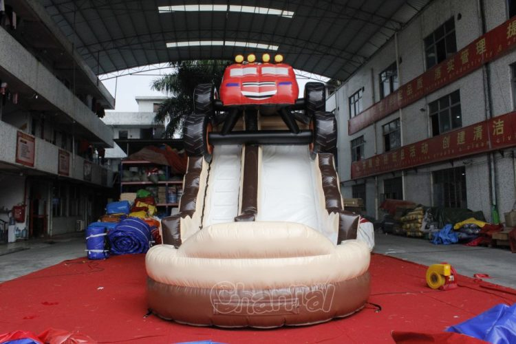 monster car inflatable water slide for kids