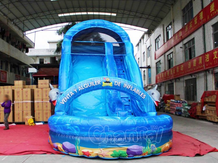 commercial ocean inflatable water slide for kids