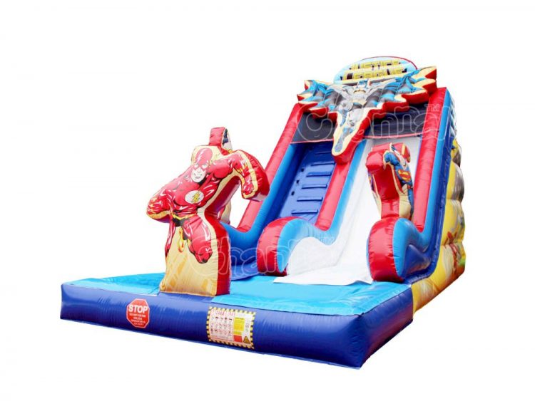 justice league inflatable water slide
