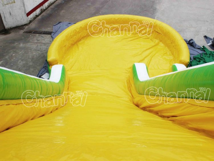 spongebob water slide with pool