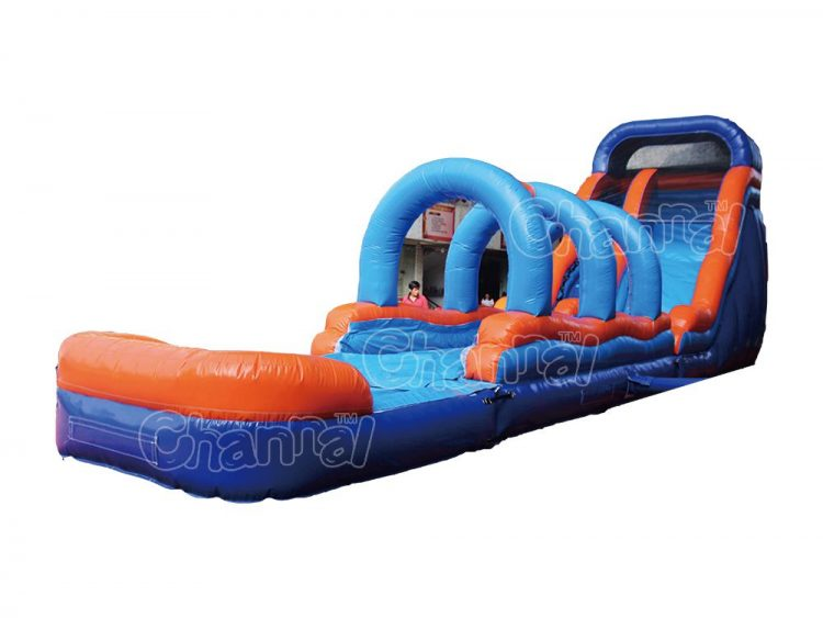 inflatable water slide and slip with pool