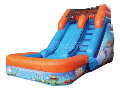 ocean themed blow up water slide