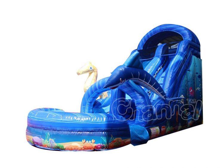 ocean theme inflatable water slide