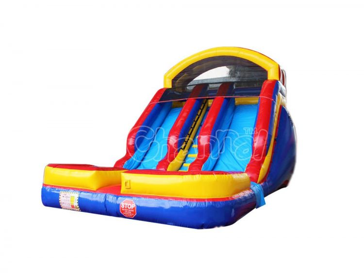 inflatable water slide with 2 slides