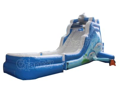 dolphin small water slide
