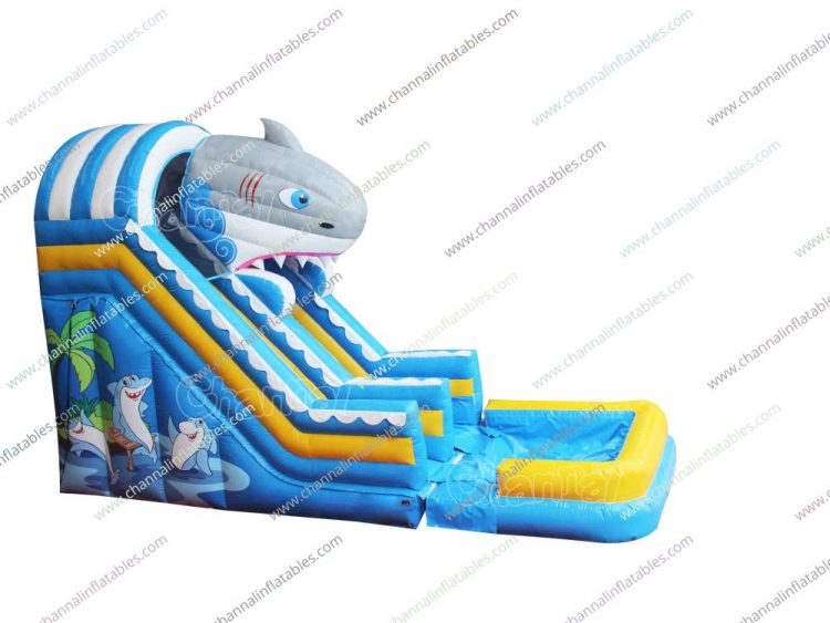 shark inflatable water slide for sale