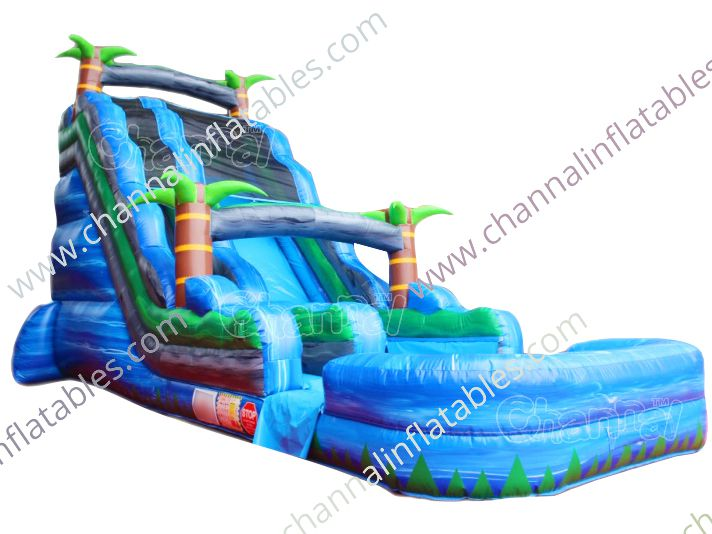 22 ft tropical inflatable water slide