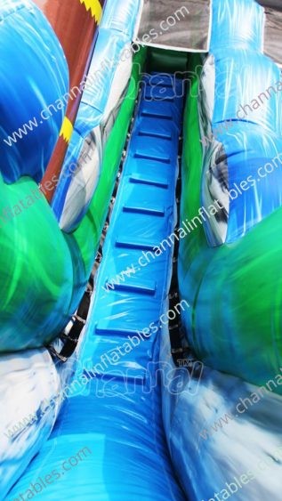 tropical water slide ladder