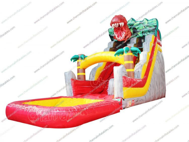 t rex inflatable water slide