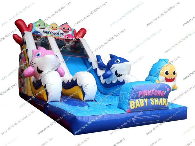 baby shark inflatable water slide