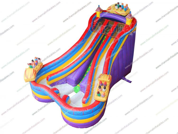 amusement park roller coaster inflatable water slide for kids