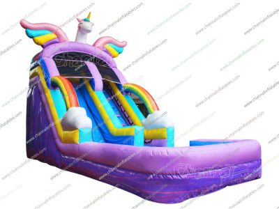 unicorn inflatable water slide
