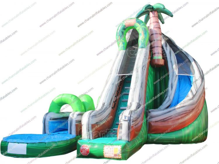 jungle exploration inflatable water slide