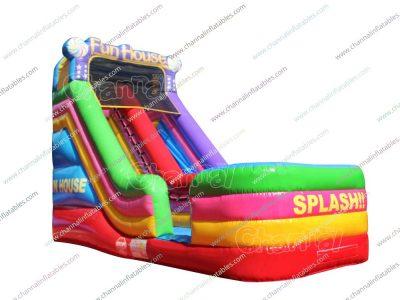 splash inflatable water slide
