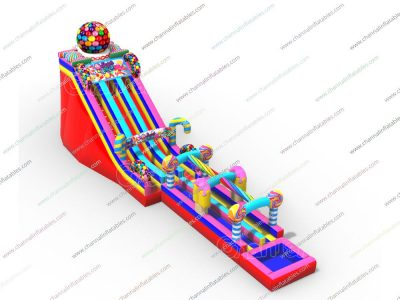 sugar rush inflatable water slide