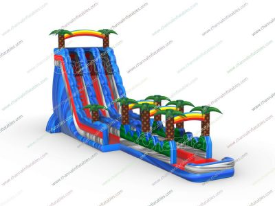 coconut tree inflatable water slide