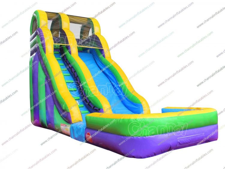 tricolor water slide