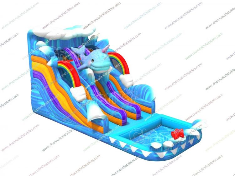 whalicorn inflatable water slide