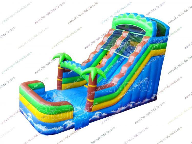 palm ocean inflatable water slide