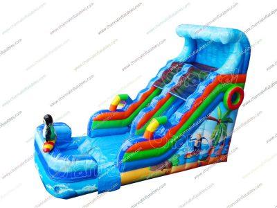 beach inflatable water slide
