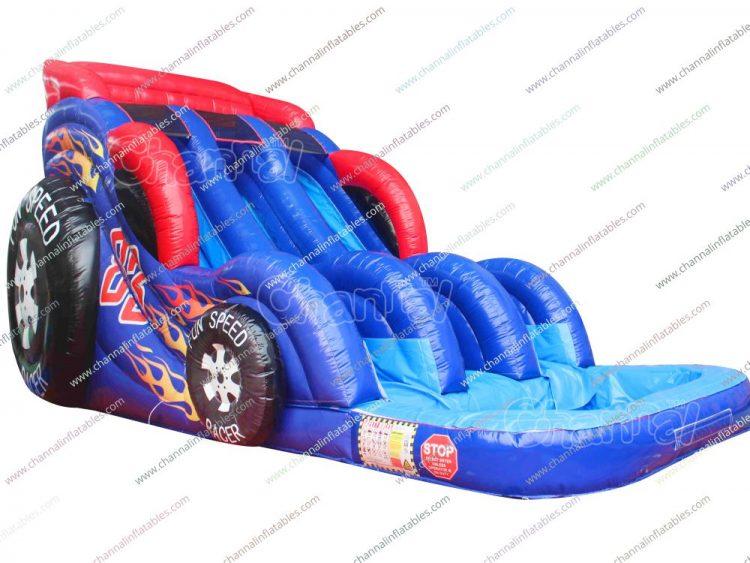speed racing inflatable water slide