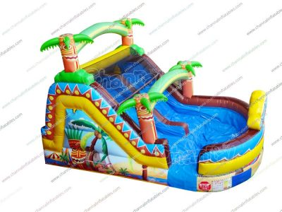 totem inflatable water slide