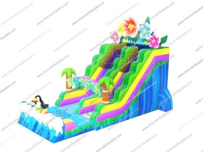 tropical coast inflatable water slide