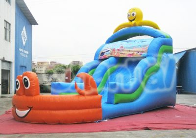 ocean world inflatable water slide