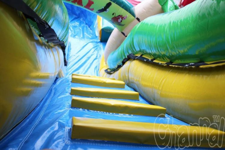 tropical inflatable water slide climb steps