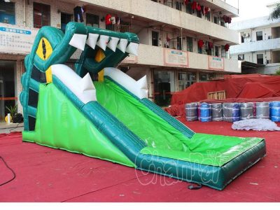 crocodile mouth inflatable water slide