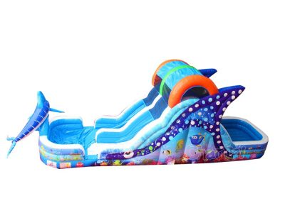 under the sea inflatable water slide