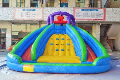 splash island inflatable water slide