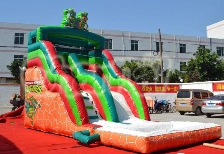 ninja turtles inflatable water slide