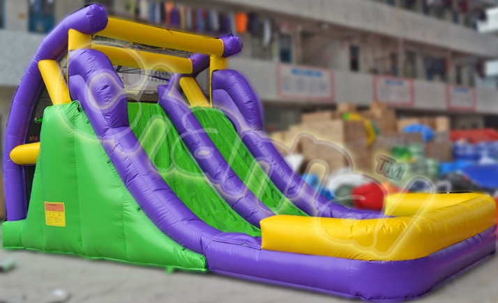 backyard dual lane inflatable water slide