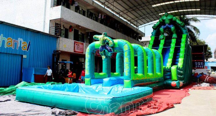 the hulk inflatable water slide with slip n slide