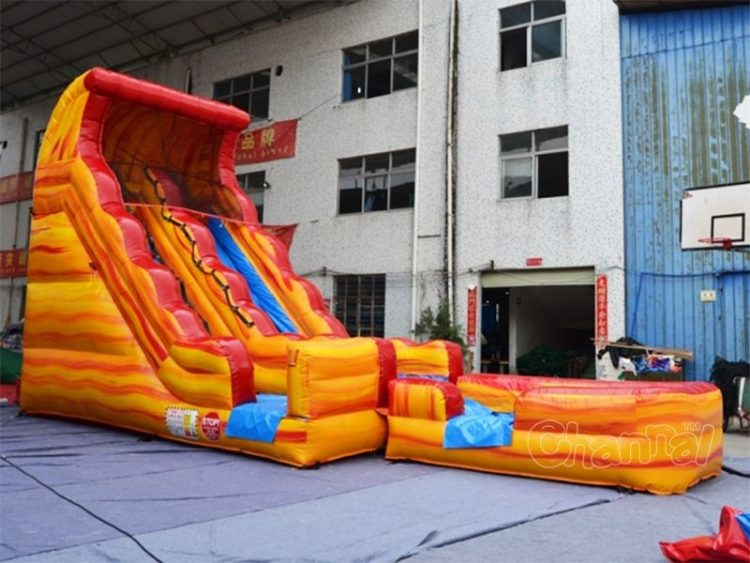 17'H volcano inflatable water slide