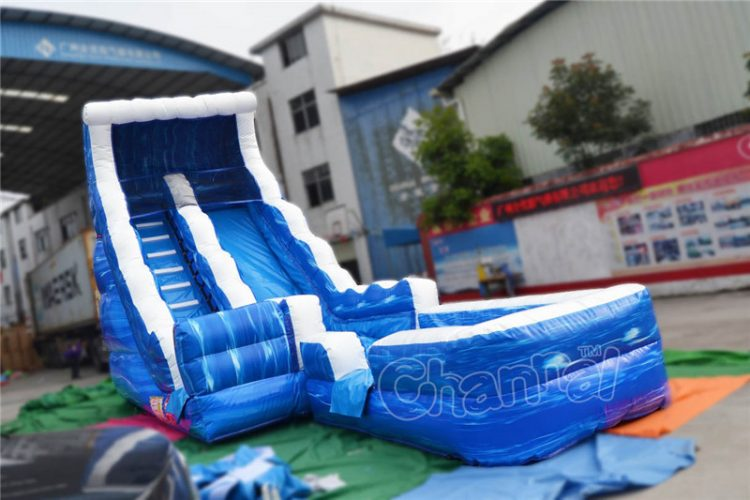 17'H waterfall inflatable water slide