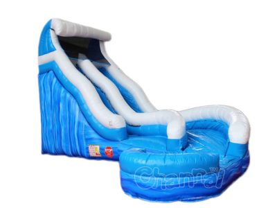 waves inflatable water slide