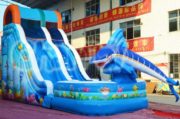 18'H tuna inflatable water slide