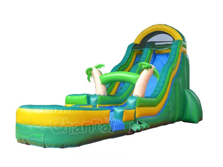 20' tropical theme inflatable water slide for sale
