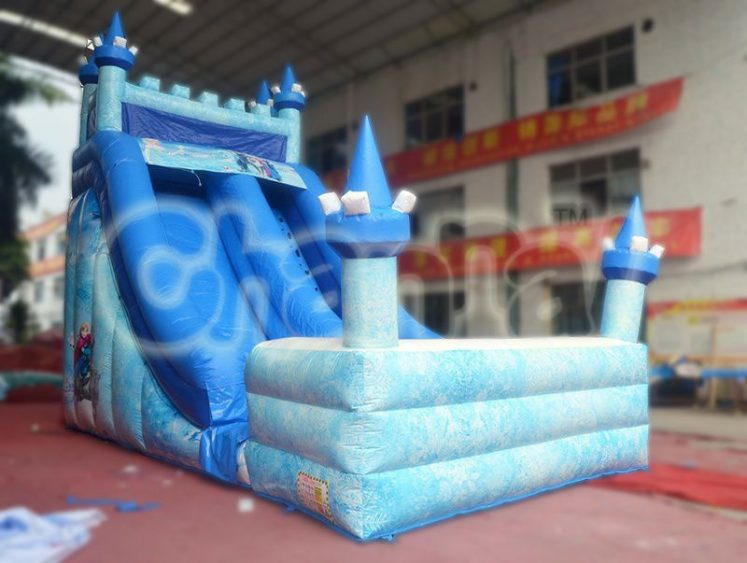 frozen castle inflatable water slide