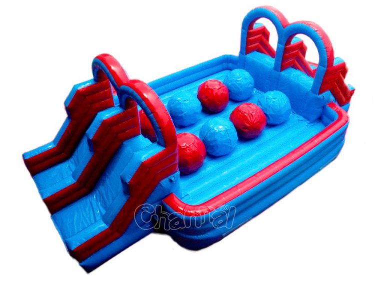 dual lane inflatable wipeout course for sale